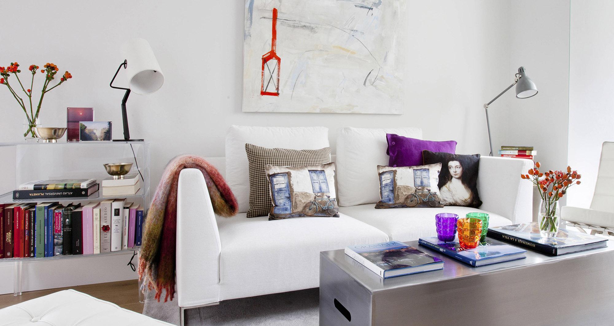 Apartamento en Chamartin con estilo moderno y desenfadado, tipo loft, con luz por todas las partes de la vivienda, obra de Belén Ferrándiz